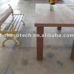 Eco-friendly 좋은 디자인 wpc 정원 책상 및 의자