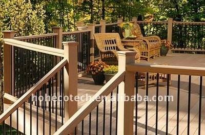 Decking composé en plastique en bois/plancher de conception de prix bas d'HÔTEL de decking élégant du plancher WPC