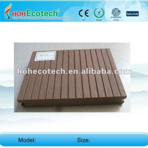 Anti-UV water-proof wood plastic composite solid decking board (CE ROHS)