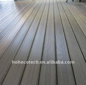Sólido& hueco wpc suelo entarimado wpc decking azulejos compuesto plástico de madera suelo