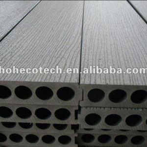 Le decking en bois extérieur du nouveau model 200x50mm/la plate-forme composés en plastique gravants en refief de wpc panneau de plancher couvrent de tuiles le bois de construction