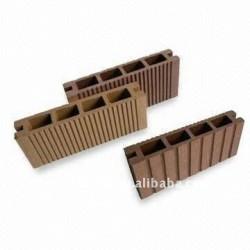 装飾WPCのDeckingの/flooringの屋外か公共のwpcの合成の木製の材木のための合成の木製の材木