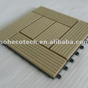 Hoh ecotech wpc bloqueio telhas decking de wpc diy títulos de madeira - compósitos de plástico placa de revestimento