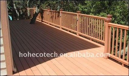 Impermeável madeira com aspecto natural hotel piso decking de wpc wood plastic composite decking/pisos