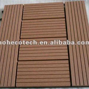 La bienvenue modèle le PANNEAU de plancher de verrouillage de composés de Bois-Plastique de titres du wpc DIY de tuiles de decking de wpc