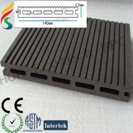 Providing wood-plastic composite flooring