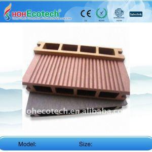 Fabricación de wpc al aire libre de la decoración del piso/suelo ( ce, rohs, astm ) madera decking compuesto plástico/suelo cubiertas de plástico