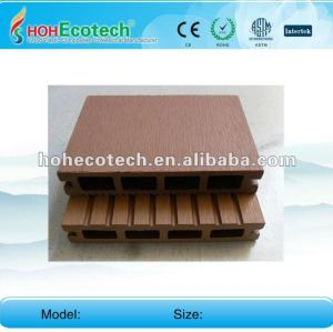 Anti-UV water-proof wood plastic composite hollow decking board (CE ROHS)