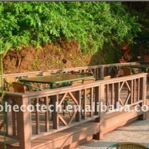 Nuevos pisos de madera natural pisos del hotel decking del wpc compuesto plástico de madera decking/suelo