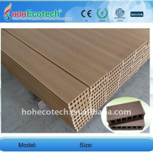Plástico de madera wpc decking compuesto/suelo 149*34mm ( ce, rohs, astm, iso 9001, iso 14001, intertek ) wpc decking compuesto