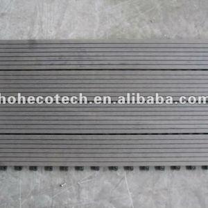 le decking de verrouillage de wpc de 300x600mm 300x300mm couvre de tuiles des tuiles de decking du wpc DIY