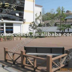 Garantía de calidad de plástico de madera wpc decking compuesto/suelo ( ce, rohs, astm, iso9001, iso14001, intertek )