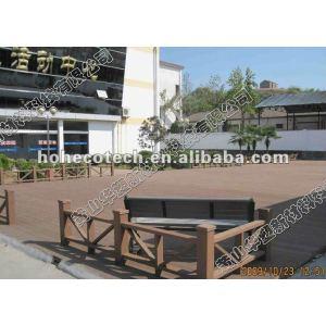 Quality warranty wpc wood plastic composite decking /flooring (CE, ROHS, ASTM,ISO9001,ISO14001, Intertek)