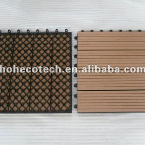 interlock diy tiles internal/external flooring 300x300mm wpc bathroom tile Wood Plastic Composite tile