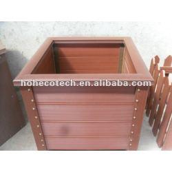 木製のプラスチック合成の植木鉢
