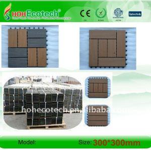 Garantia de qualidade internacional não - deslizamento, desgaste - resistantsauna bordo wpc telhas de madeira - compósitos de plástico diy telhas
