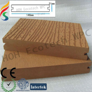 FSC wood plastic composite floorings