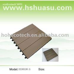 エコ- フレンドリーな木材プラスチック複合材デッキ/スーパーマーケット熱い販売の床タイル!