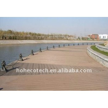 Waterproof wood plastic composite decking/flooring (CE, ROHS, ASTM,Intertek) wpc decking timber