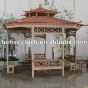Huasu wpc produtos de lazer, casa de madeira, wpc vaso de flores, gazebo