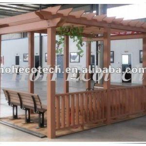 Huasu wood plastic composite pergola
