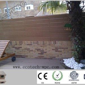 Hand geriebener Oberflächen-WPC Decking 100*25mm
