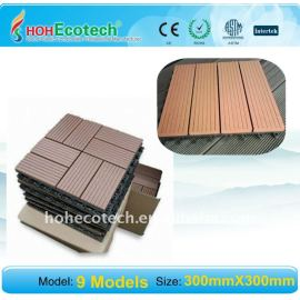 beST seller !!WPC tiles Non-Slip, Wear-Resistant DIY Wood-Plastic Composite flooring /decking tiles 9 models wpc decking