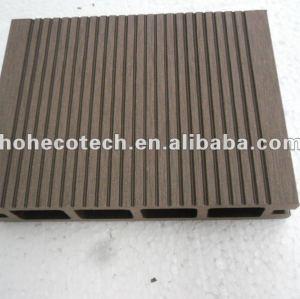 100% reciclado wpc exterior hollow decks ( wpc pisos/ painel de parede wpc/ wpc produtos de lazer )