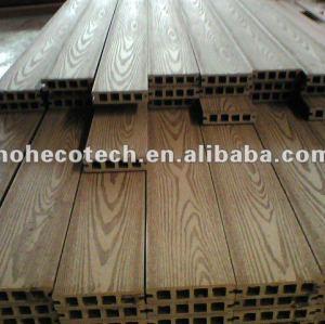 Decking composé en plastique en bois extérieur gravant en refief de WPC/plate-forme en bois wpc de plancher (CE, ROHS, ASTM, OIN 9001, OIN 14001, Intertek)