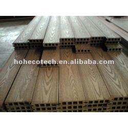 浮彫りになる表面WPCの木製のプラスチック合成のdeckingか(セリウム、ROHS、ASTM、ISO 9001、ISO 14001、Intertek) wpcの木のデッキに床を張ること