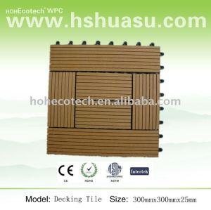 Bois plastique composite decking carreaux( 300x300)