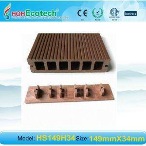 149*34mmwith endcover wpc legno decking composito di plastica/pavimentazione ( ce, rohs, astm, iso 9001, iso 14001, intertek ) wpc ponte di legno