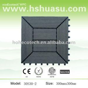 le decking de verrouillage de wpc couvre de tuiles 300x300mm