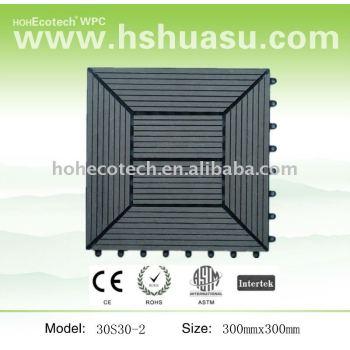 wpc interlocking decking tiles 300x300mm
