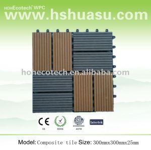 Wpc hohecotech bricolaje decking azulejos/compuesto de madera y cerámica