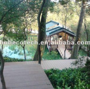Wpc esterno decking progetto legno decking composito di plastica/pavimentazione ( ce, rohs, astm, iso 9001, iso 14001, intertek )