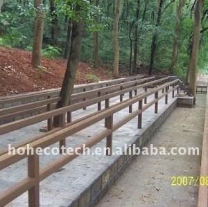 Route de wpc de stabilité dimensionnelle clôturant le wpc imperméable à l'eau de balustrade de wpc clôturant la balustrade de plate-forme de wpc de /fence