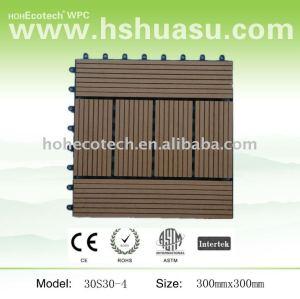 Wpc piastrelle ponte/mattonelle diy/legno decking composito di plastica