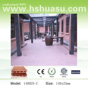 Waterprof ao ar livre composto plástico de madeira/decking de wpc ( pead )