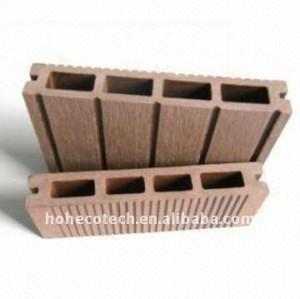 Outdoor decoration floor /flooring QUality warranty (CE, ROHS, ASTM) wood plastic composite decking/flooring plastic decking