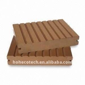 Usine directement ! Panneau composé en plastique en bois de wpc de panneau de plancher/decking