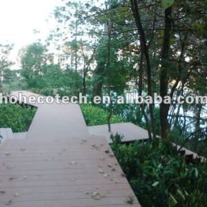 OUtdoor WPC decking project wood plastic composite decking/flooring (CE, ROHS, ASTM, ISO 9001, ISO 14001,Intertek)