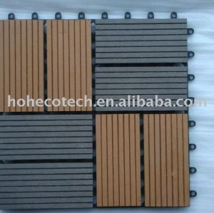 De alto rendimiento elegante diseño de bricolaje wpc títulos de madera - materiales compuestos de plástico suelo junta