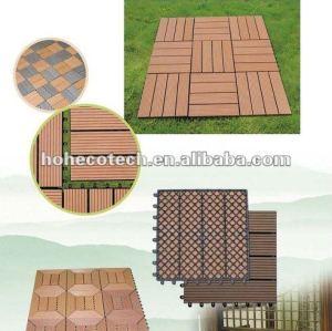 Exterior de plástico vinil placas decks/eco- friendly wood plastic composite decking/telha de assoalho