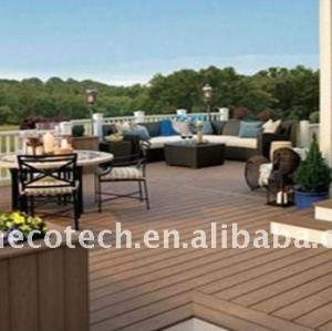 pubblico esterno pavimenti in legno decking composito di plastica wpc decking piastrelle decking di wpc