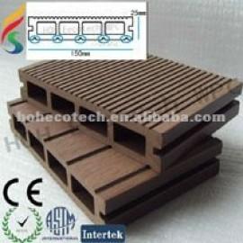 Dark color WPC decking wood plastic composite decking/flooring/composite decking/flooring-anti-fungus