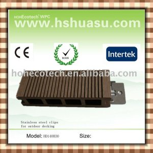 Eco-friendly hollow wpc outdoor decking (with clips)