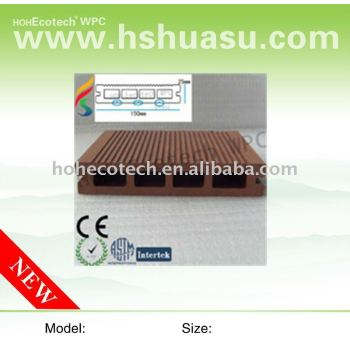 eco-tech WPC composite outdoor decking board( CE,ROHS, ISO passed)