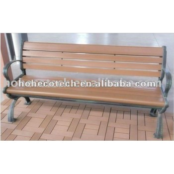 wood plastic composite OUTdoor leisure chairs/bench wood bench(CE, ROHS, ASTM,ISO9001,ISO14001, Intertek) wood bench