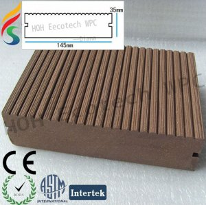 100% recyclable decking wpc